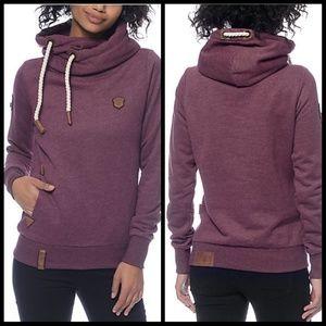 NAKETANO Darth VII Bordeaux hoodie sweatshirt